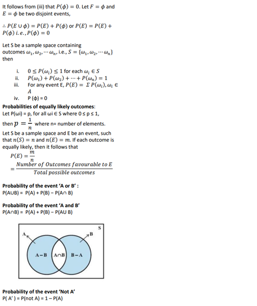 Class 11 Maths Chapter 16 Probability