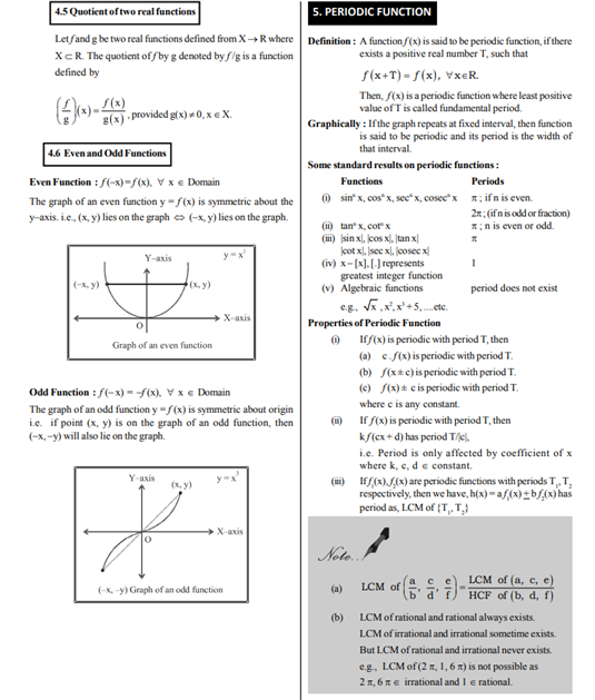 Class 11 Maths Chapter 2 Relations and Functions Notes