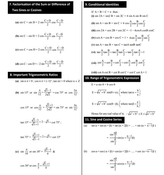 Class 11 Maths Chapter 3 Trigonometric Functions