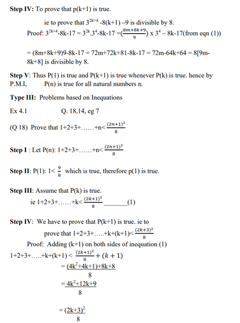 Class 11 Maths Chapter 4 Principles of Mathematical Induction