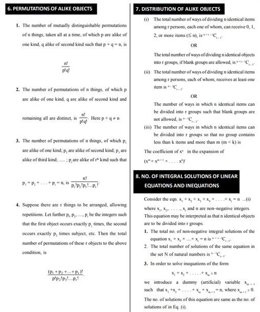 Class 11 Maths Chapter 7 Permutations and Combinations