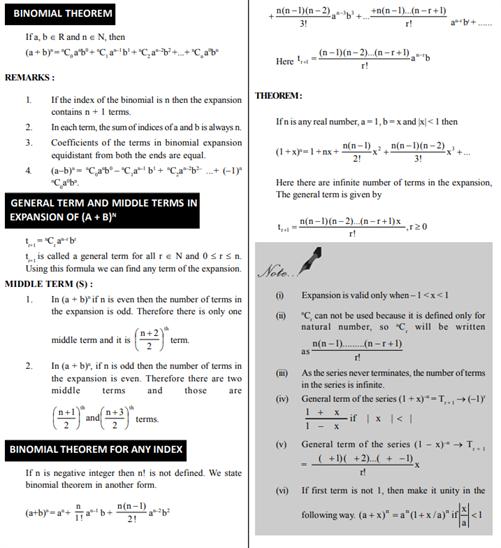 Class 11 Maths Chapter 8 Binomial Theorem