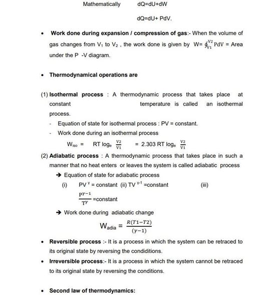 Class 11 Physics Chapter 12 Thermodynamics