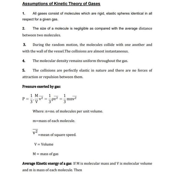 Class 11 Physics Chapter 13 Kinetic Theory