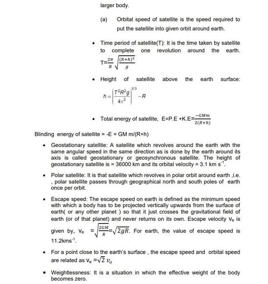 Class 11 Physics Chapter 8 Gravitation
