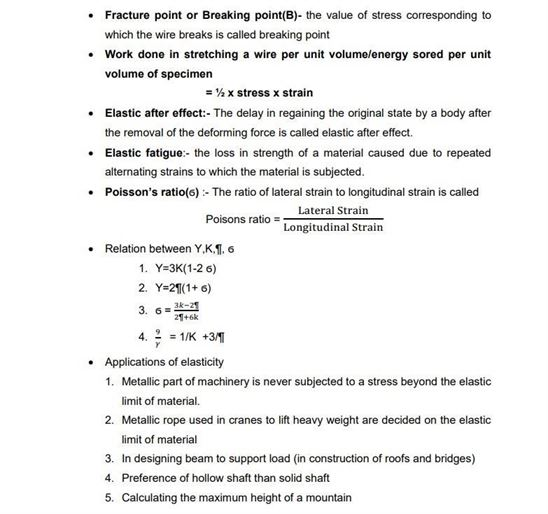 Class 11 Physics Chapter 9 Mechanical Properties of Solids