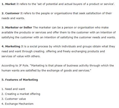 Class 12 Business Studies Chapter 11 - Marketing