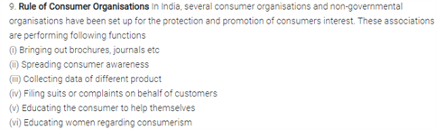 Class 12 Business Studies Chapter 11 - Consumer Protection