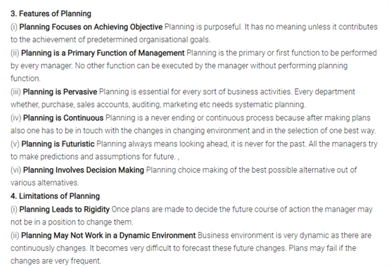 Class 12 Business Studies Chapter 4 Planning