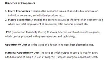 Class 12 Economics Chapter 1 - Introduction - Microeconomics