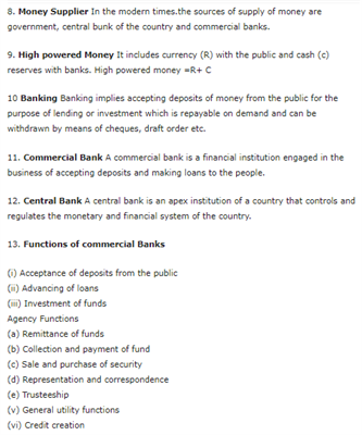 Class 12 Macroeconomics Chapter 3 - Money And Banking