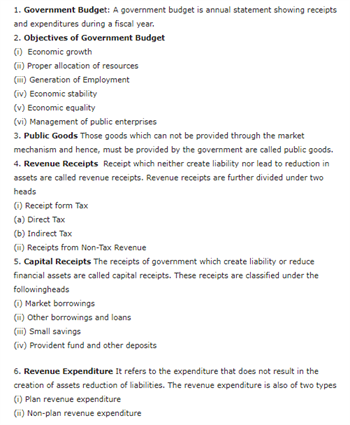 Class 12 Macroeconomics Chapter 5 - Government Budget And The Economy
