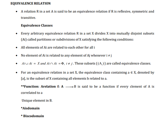 Class 12 Maths Chapter 1 Relations and Functions