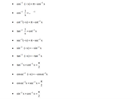 Class 12 Maths Chapter 2 Inverse Trigonometric Functions