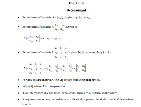 Class 12 Maths Chapter 4 Determinants