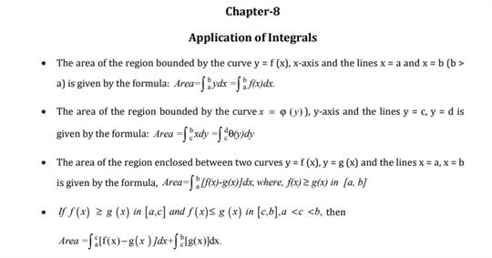 Class 12 Maths Chapter 8 Application of Integrals