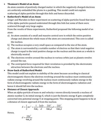 Class 12 Physics Chapter 12 Atoms