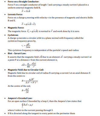 Class 12 Physics Chapter 4 Moving Charges and Magnetism
