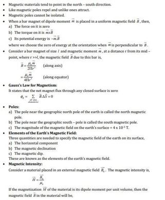 Class 12 Physics Chapter 5 Magnetism and matter
