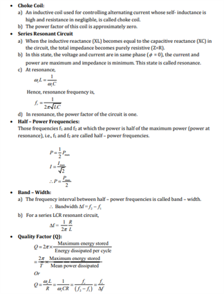 Alternating current notes pdf