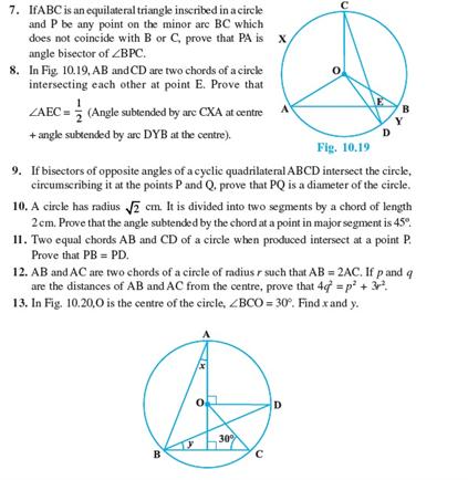 Class 9 Math Chapter 10 - Circles