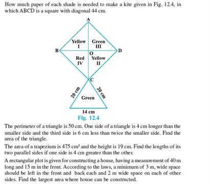 Class 9 Math Chapter 12 - Heron's Formula