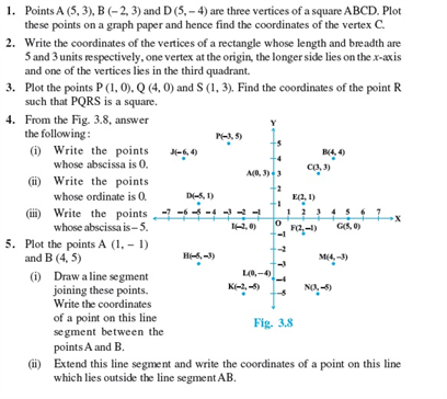 Class 9 Math Chapter 3 - Coordinate Geometry