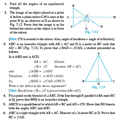 Class 9 Math Chapter 7- Triangles