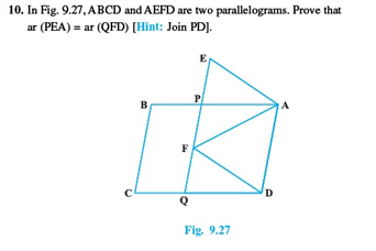 Class 9 Math Chapter 9 - Areas of Parallelograms and Triangles
