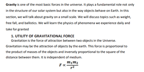 Class 9 Science Chapter 10 gravitation
