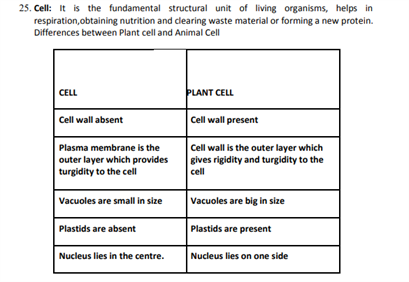 Class 9 Science Chapter 5 the fundamental unit of life