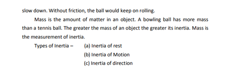 Class 9 Science Chapter 9 force and laws of motion