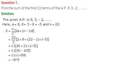 ICSE Solutions Of Class 10 Maths Chapter 10 Arithmetic Progression