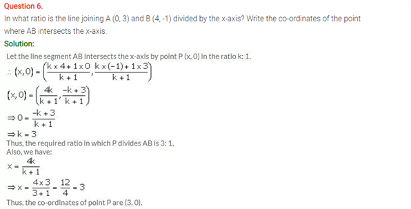 ICSE Solutions Of Class 10 Maths Chapter 13 Section and Midpoint Formula