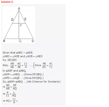 ICSE Solutions Of Class 10 Maths Chapter 15 Similarity