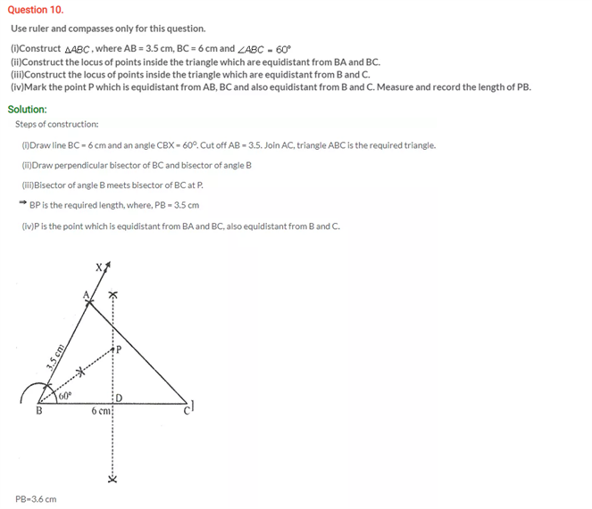 ICSE Solutions Of Class 10 Maths Chapter 16 Loci