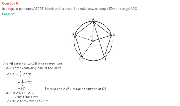 ICSE Solutions Of Class 10 Maths Chapter 17 Circles