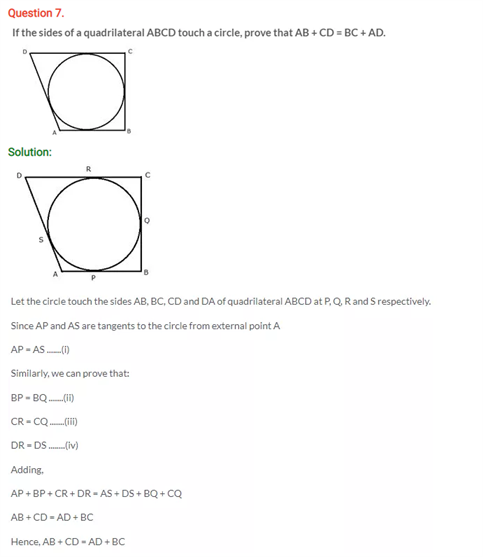 ICSE Solutions Of Class 10 Maths Chapter 18 Tangents and Intersecting Chords