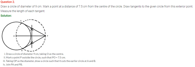 ICSE Solutions Of Class 10 Maths Chapter 19 Constructions