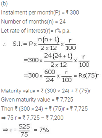 ICSE Solutions Of Class 10 Maths Chapter 2 Banking(Recurring Deposit Account)