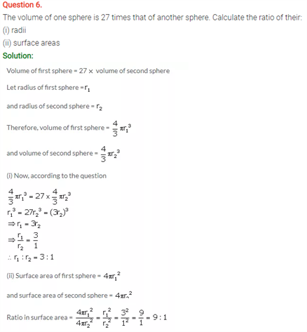 ICSE Solutions Of Class 10 Maths Chapter 20 Cylinder, Cone and Sphere
