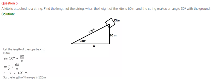 ICSE Solutions Of Class 10 Maths Chapter 22 Heights and Distances