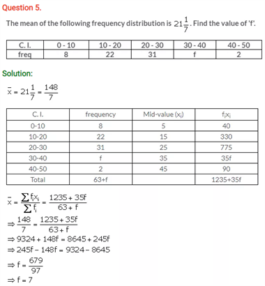 ICSE Solutions Of Class 10 Maths Chapter 24 Measure of Central Tendency