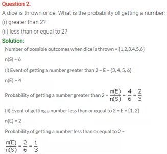 ICSE Solutions Of Class 10 Maths Chapter 25 Probability