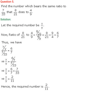 ICSE Solutions Of Class 10 Maths Chapter 7 Ratio and Proportion