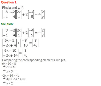 ICSE Solutions Of Class 10 Maths Chapter 9 Matrices