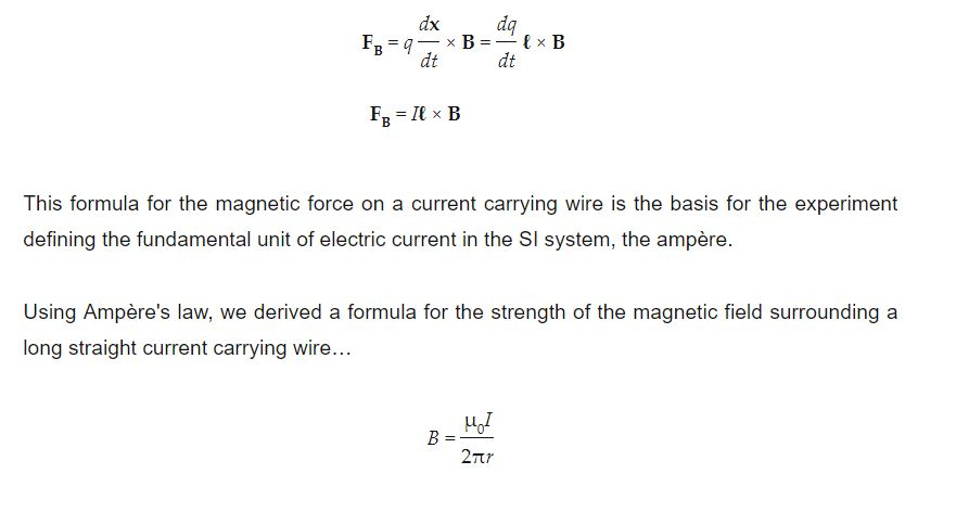 Magnetism Formula Physics | Electricity And Magnetism Equations