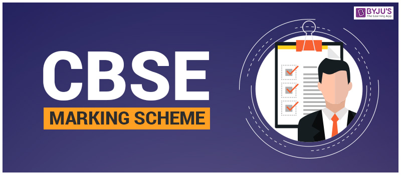 Marking scheme for CBSE