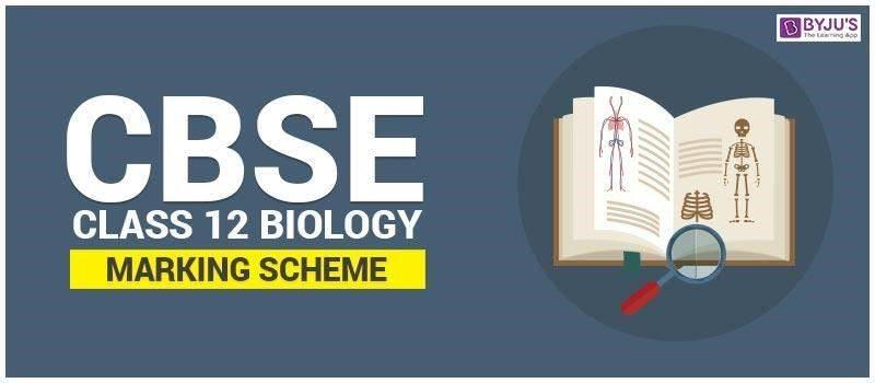 CBSE Class 12 Biology Marking Scheme