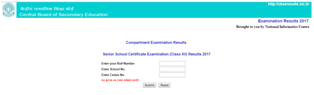 CBSE Class 12 compartment Results 2017 Released